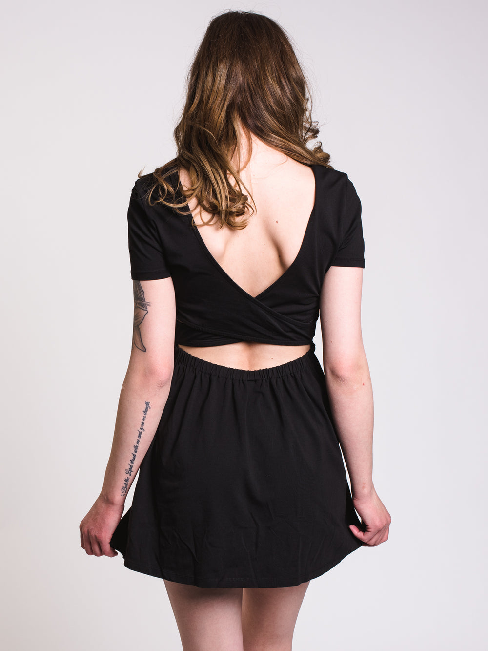 WOMENS ANIMAL HOUR DRESS - BLACK