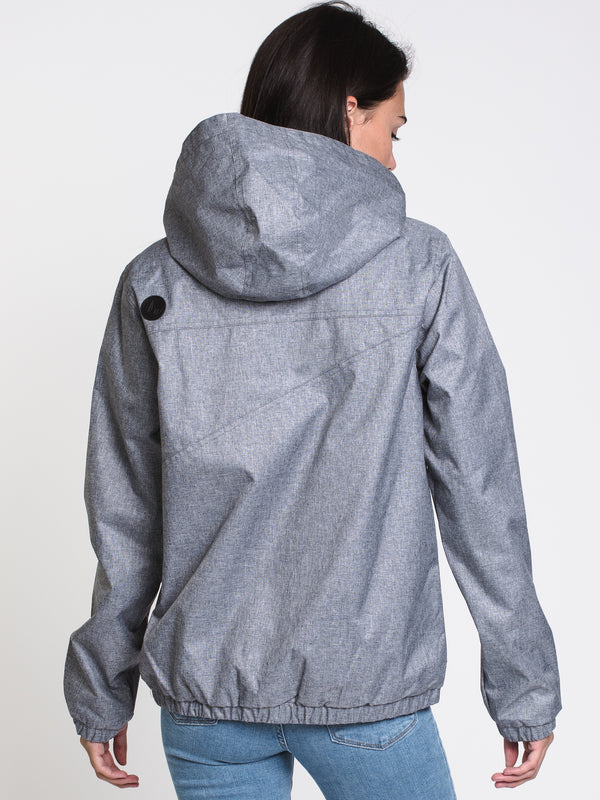WOMENS ENEMY STONE JACKET - HTHR GREY