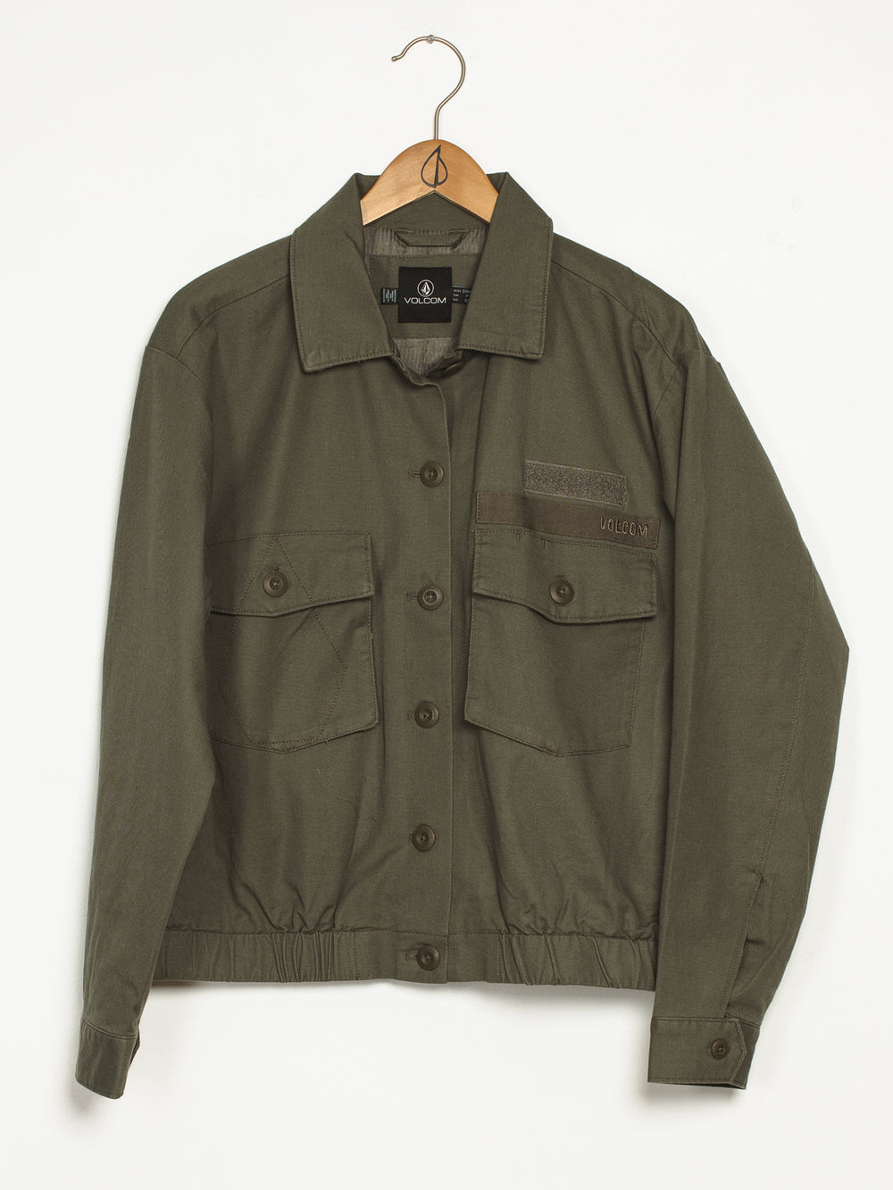 WOMENS ARMY WHALER JACKET - OLIVE