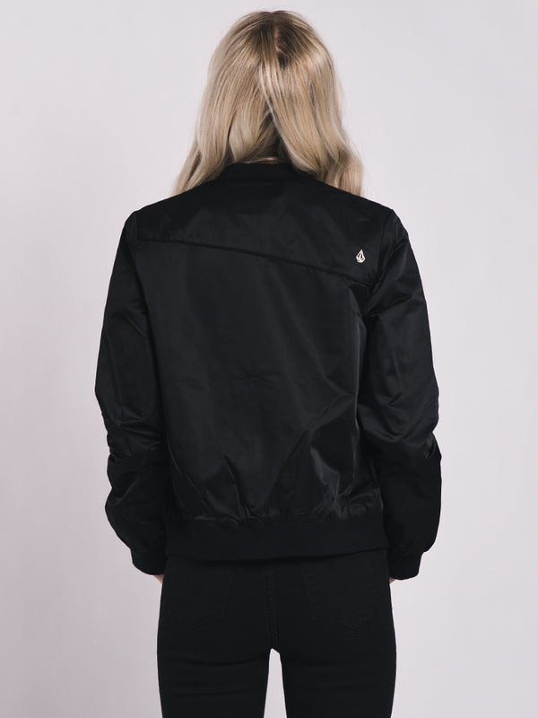 WOMENS IN MY LANE BOMBER - BLACK