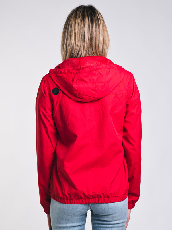 WOMENS ENEMY STONE JACKET - RED