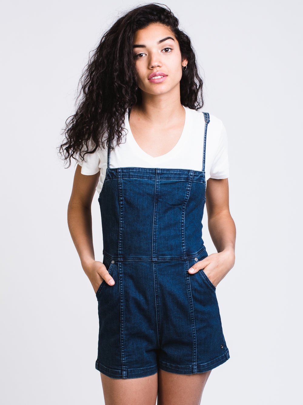 WOMENS LIBERATOR ROMPER - DENIM - CLEARANCE