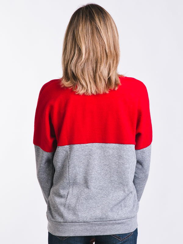 WOMENS LIVED IN CREW - RED