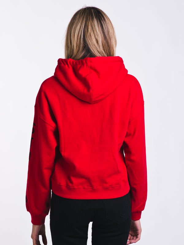 WOMENS KNEW WAVE HOODY - RAD RED