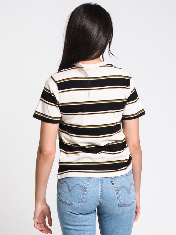 WOMENS LANEY SHORT SLEEVE CREW - STRIPE