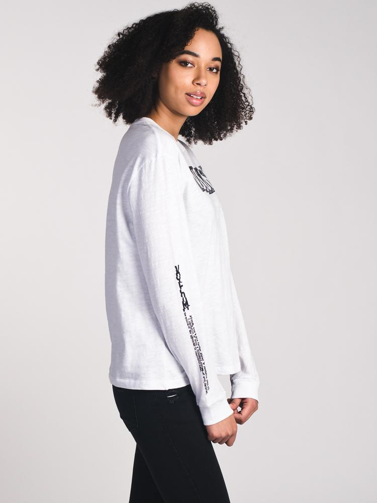 WOMENS WHAT A TRIP LONG SLEEVET-SHIRT - WHITE- CLEARANCE
