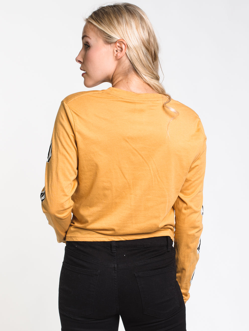 WOMENS VOLCOM STONE LONG SLEEVE TEE - GOLD