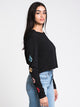 WOMENS VOLCOM STONES LONG SLEEVE TEE - BLACK