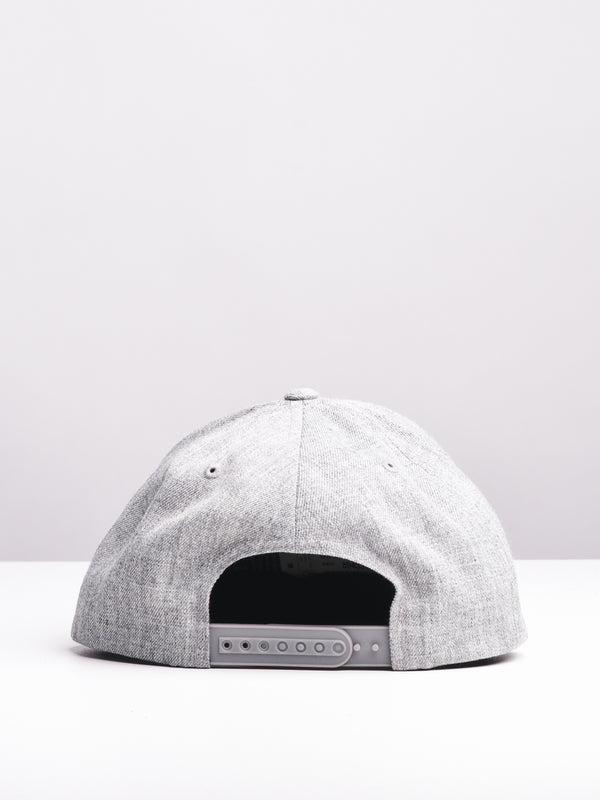 QUARTER TWILL HAT - GREY/GREEN