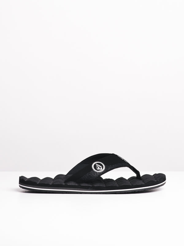 MENS RECLINER BLACK/WHITE SANDALS