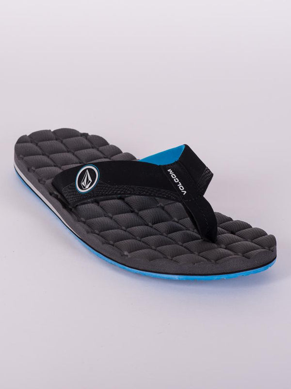 MENS RECLINER GREY BLUE SANDALS