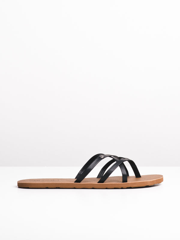 WOMENS NEW SCHOOL BLACK SANDALS