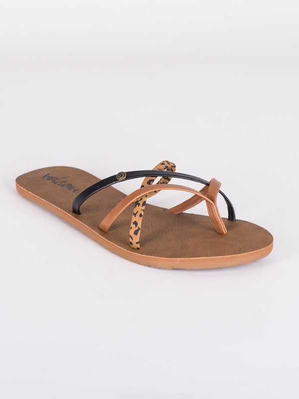 WOMENS NEW SCHOOL CHEETAH SANDALS- CLEARANCE