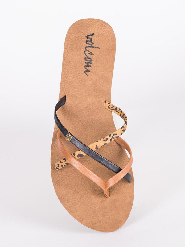 WOMENS NEW SCHOOL CHEETAH SANDALS