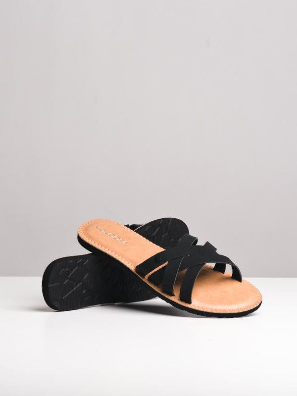 WOMENS GARDEN PARTY BLACK SANDALS- CLEARANCE