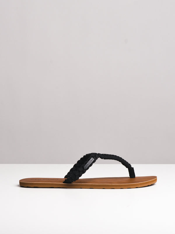 WOMENS FISHTAIL BLACK SANDALS