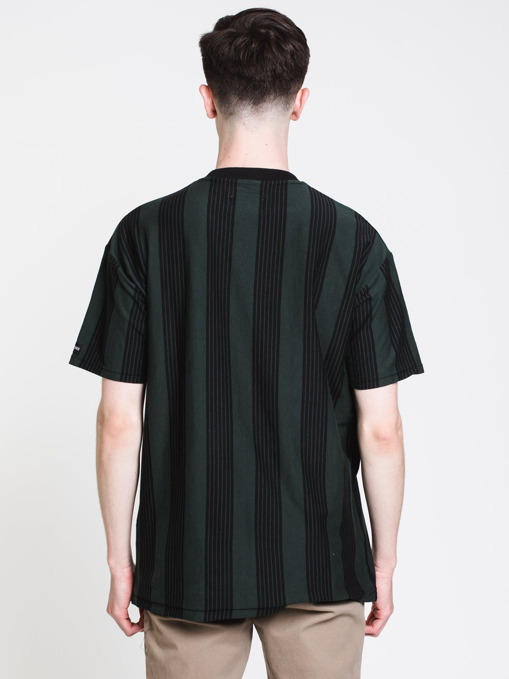 MENS LONGLINE S/S T - FOREST/BLACK
