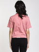 WOMENS BILLY CLUB CROP TEE - ASH ROSE