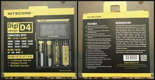 Nitecore Digicharger D4 4-Channel Battery Charger | Phantom Vape Supply