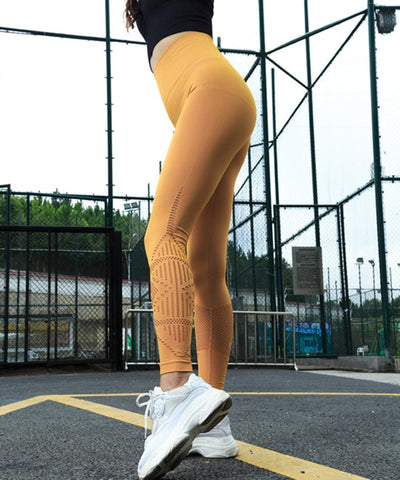 Trendy Mesh Design Leggings
