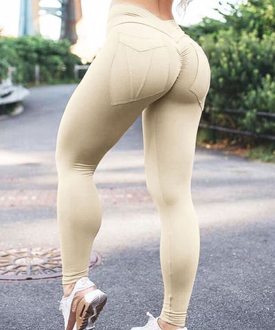 Elastic Plus Size Leggings