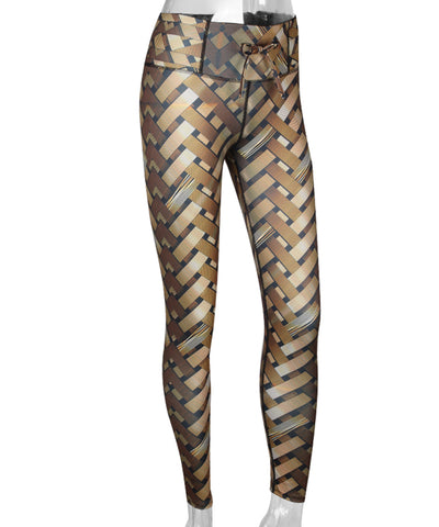 Crisscross Printed Leggings