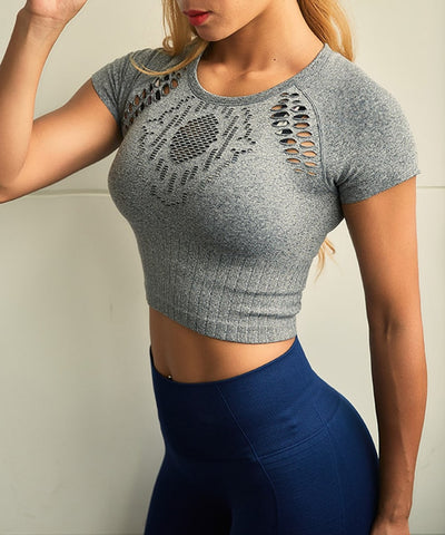 Hollow Out Crop Top
