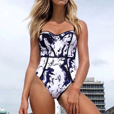 Abstract Print One-Piece