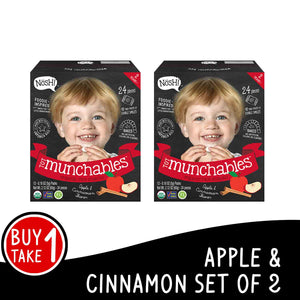 Nosh Tot Munchables Apple Cinnamon BUY 1 GET 1 FREE