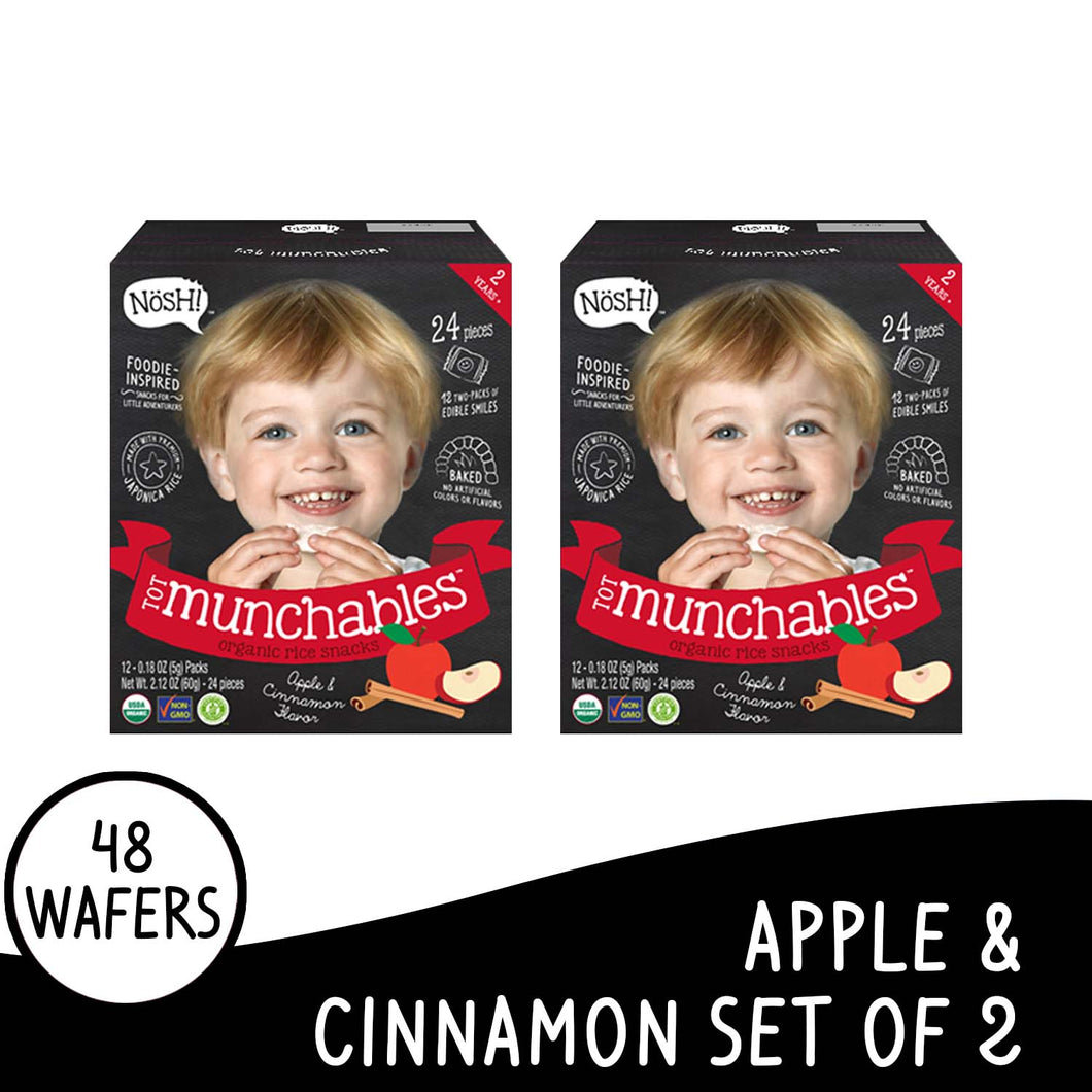 Nosh Tot Munchables Apple Cinnamon Set of 2