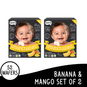 Nosh Baby Munchables Banana Mango Set of 2