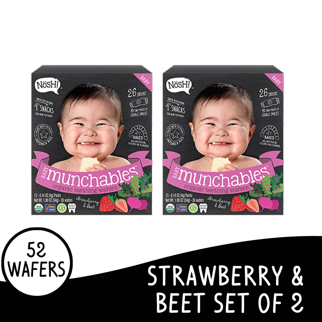 Nosh Baby Munchables Strawberry Beet Set of 2