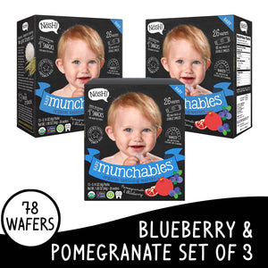 Nosh Baby Munchables Blueberry Pomegranate Set of 3
