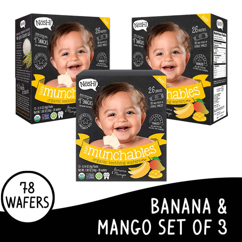 Nosh Baby Munchables Banana Mango Set of 3