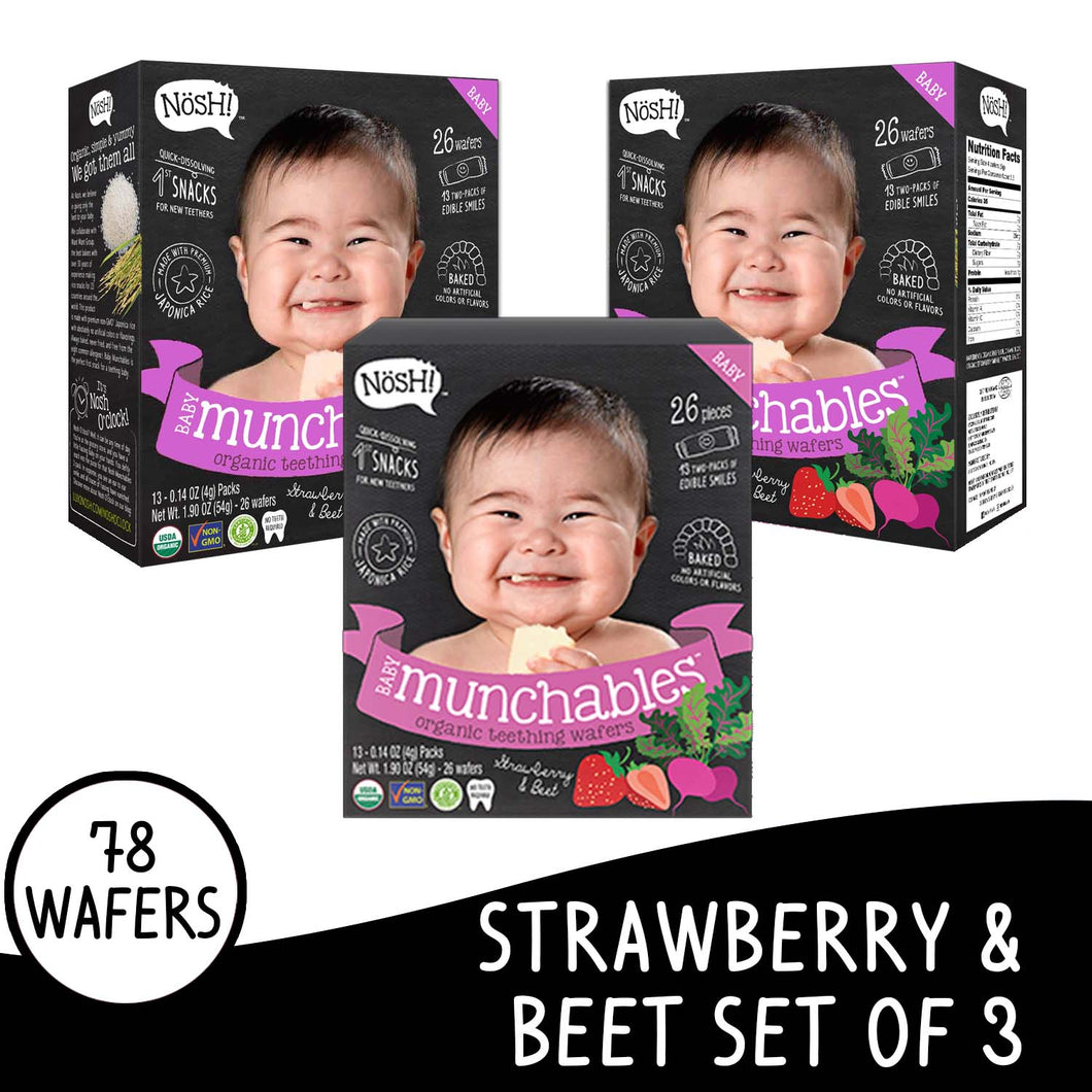 Nosh Baby Munchables Strawberry Beet Set of 3