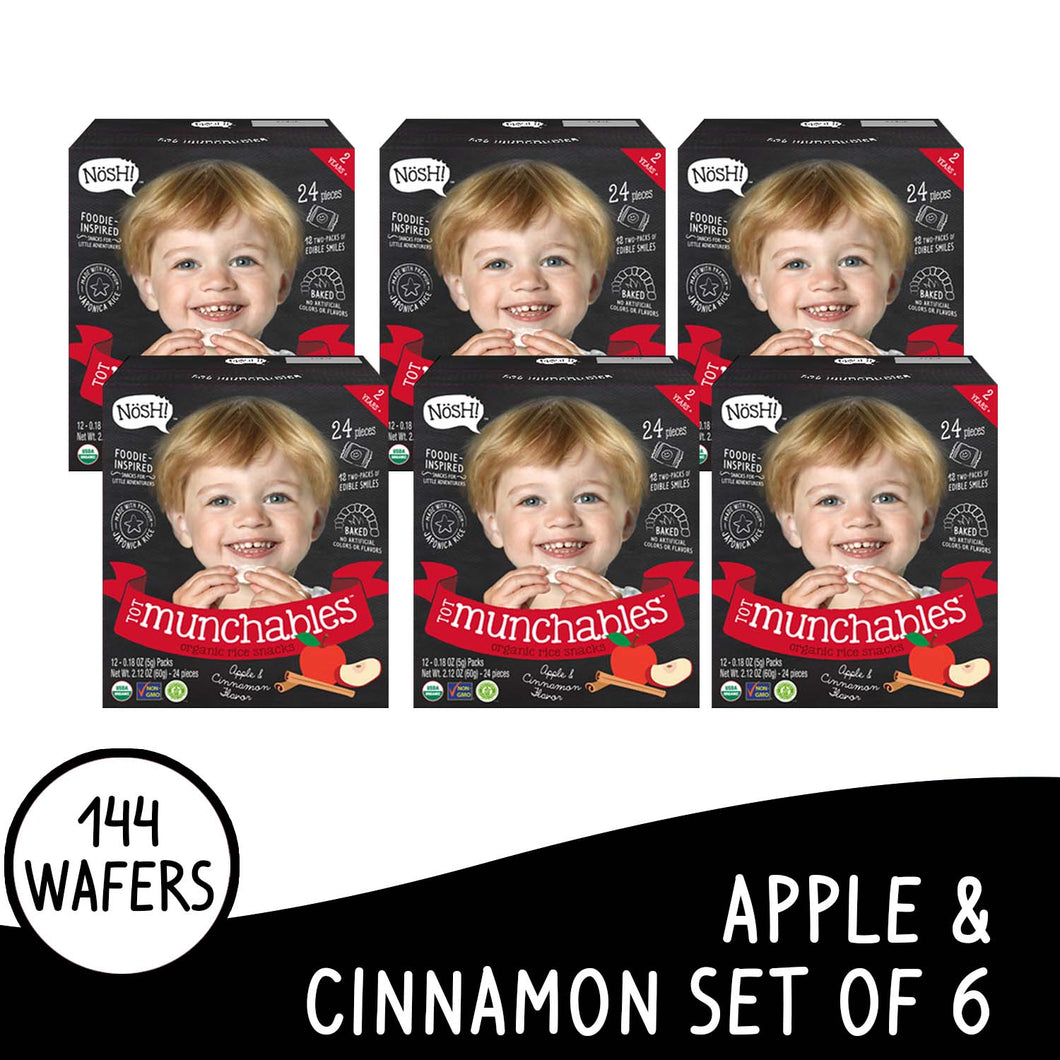 Nosh Tot Munchables Apple Cinnamon Set of 6