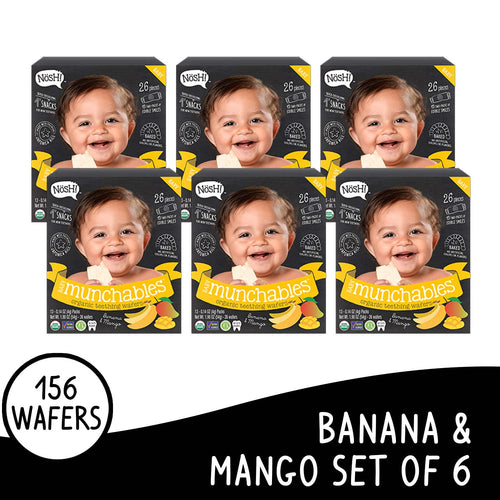 Nosh Baby Munchables Banana Mango Box of 6