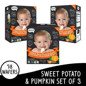 Nosh Baby Munchables Sweet Potato & Pumkin Set of 3