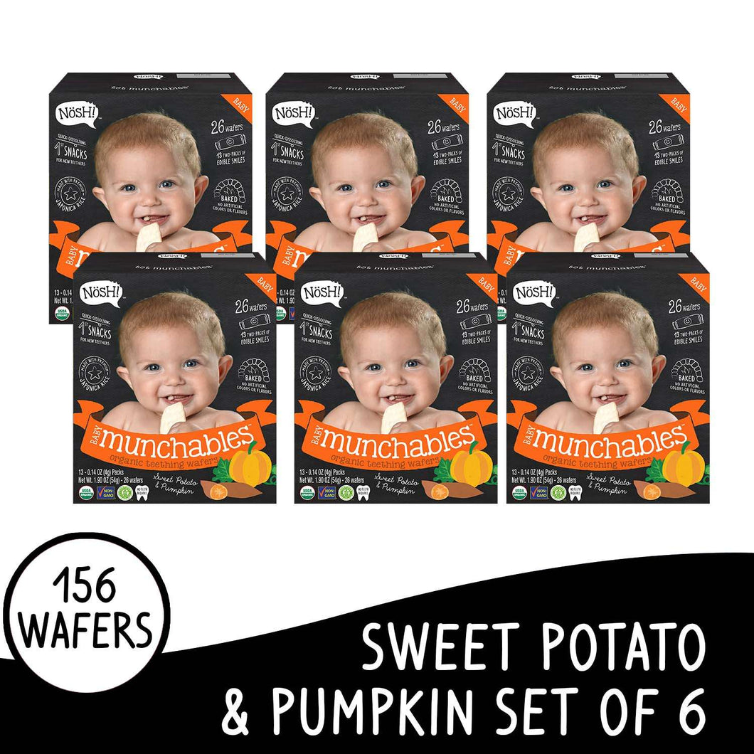 Nosh Baby Munchables Sweet Potato & Pumkin Set of 6