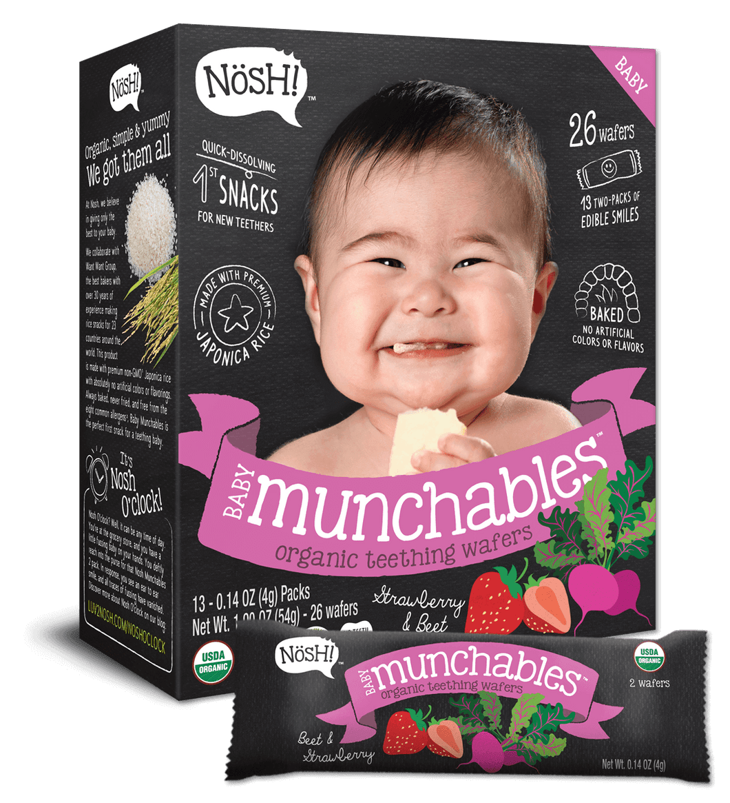 Nosh Baby Munchables Strawberry Beet