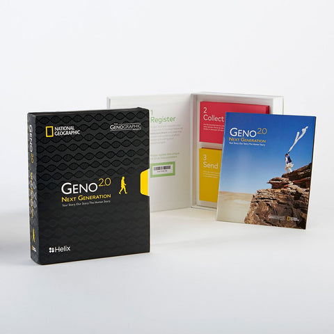 Geno 2.0 Next Generation Genographic Helix DNA Ancestry Kit, U.S. Delivery