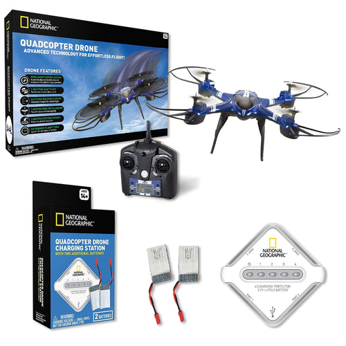Image of National Geographic Quadcopter Drone and Charging Station Bundle