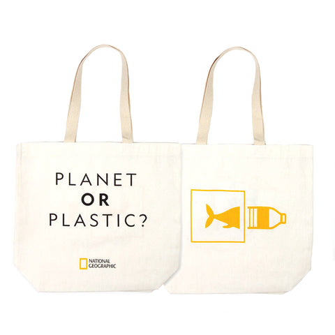 National Geographic Earthwise Bags Planet or Plastic? Tote Bag