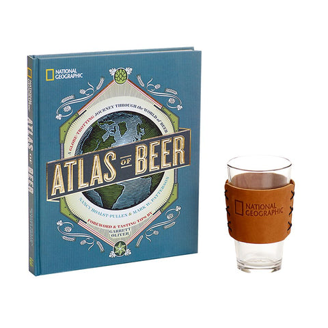 National Geographic Atlas of Beer and Pint Glass Gift Set