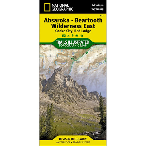 Absaroka-Beartooth Wilderness East (Cooke City, Red Lodge) Trail Map (#722)