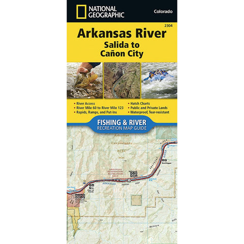 Arkansas River, Salida to Cañon City Trail Map (#2304)