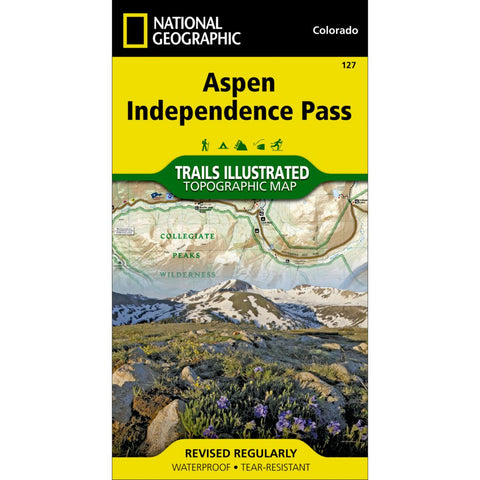 Aspen, Independence Pass Trail Map (#127)