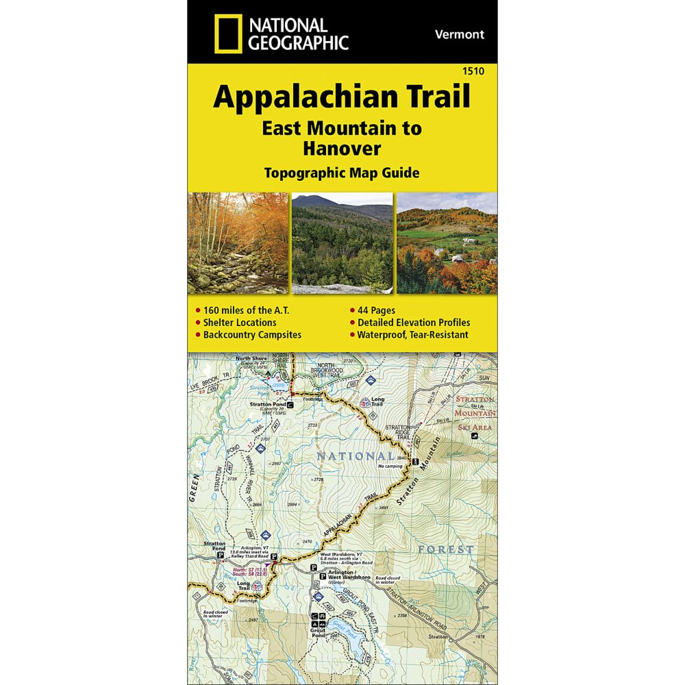 Topographic Map Vermont.Appalachian Trail East Mountain To Hanover Vermont Trail Map