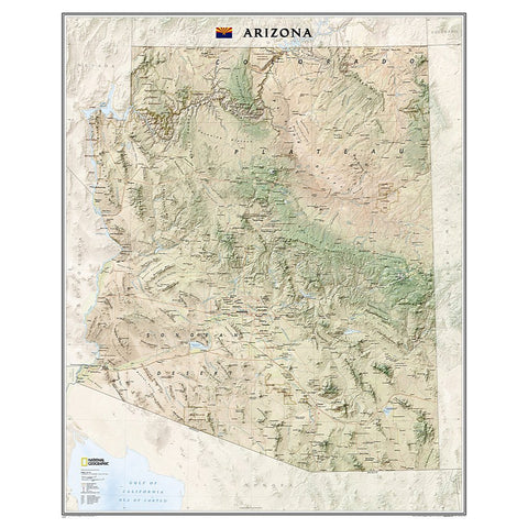 Arizona Wall Map (33 x 40.5 inches)