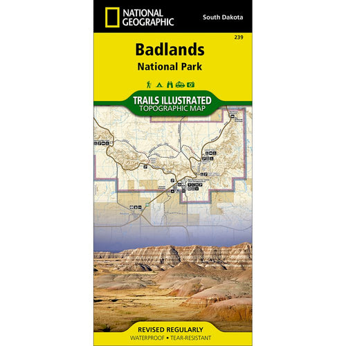 Image of Badlands National Park Trail Map (#239)